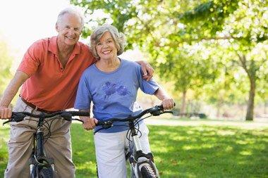 Senior Couple on Bike Ride