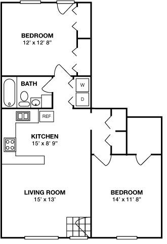 Two Bedroom • One Bath