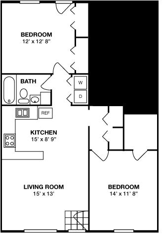 Two Bedroom • One Bath
